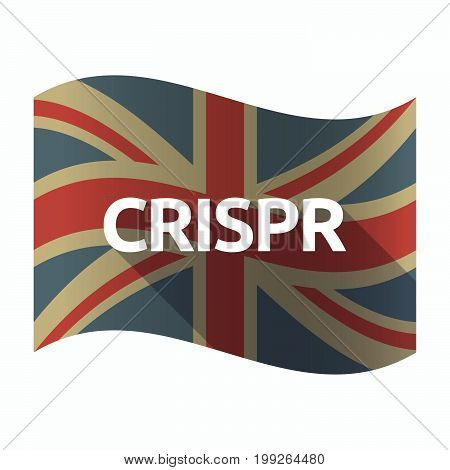 Isolated Uk Flag With  The Clustered Regularly Interspaced Short Palindromic Repeats Acromym Crispr