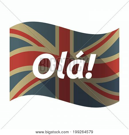 Isolated Uk Flag With  The Text Hello! In The Portuguese Language