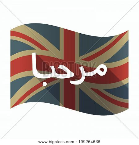 Isolated Uk Flag With  The Text Hello In The Arab Language