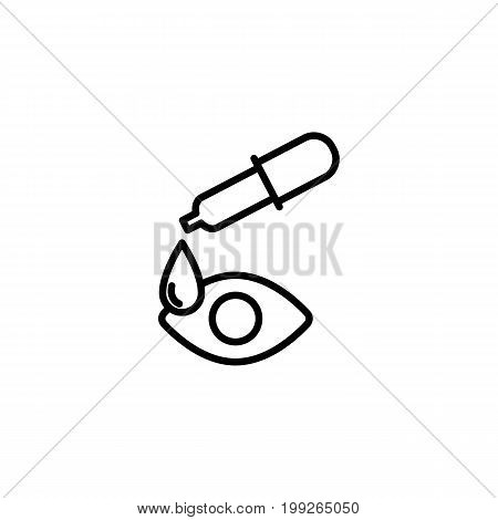 eye drop, pipette icon on white background