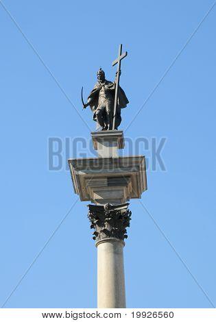 Sigismund's Column In Warsaw, Poland