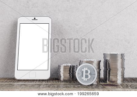 Room With Bitcoins And Phone