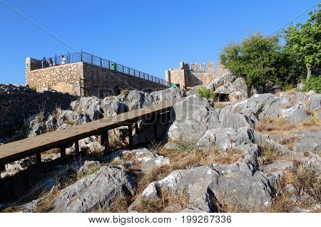 An observation deck on the territory of Alanya Castle (Alanya, Turkey).