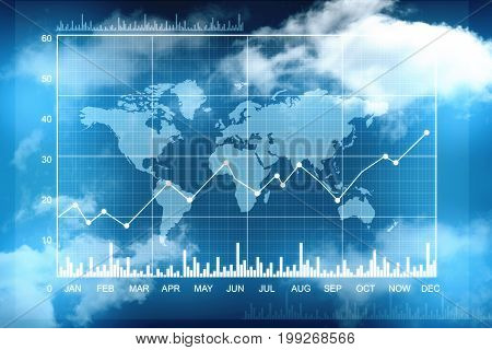 Stock market chart, Online business concept, Business graph background