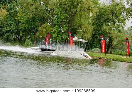 Person Wakeboarding On The Lake