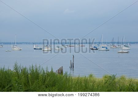 Sailboats In Keyport New Jersey