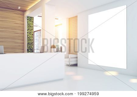 Gray And Wooden Office, Reception, Poster
