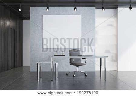 Gray Ceo Office, Square Poster