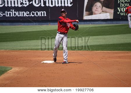 Pawtucket Red Sox 2nd baseman Nate Spears
