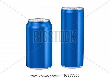 metallic can for drink isolated on white background