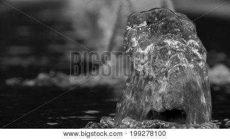 water in a fountain in Italy riva del garda
