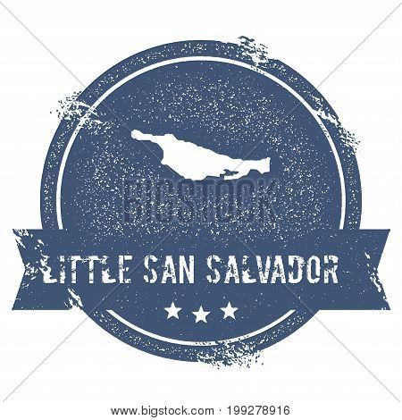 Little San Salvador Island Logo Sign. Travel Rubber Stamp With The Name And Map Of Island, Vector Il