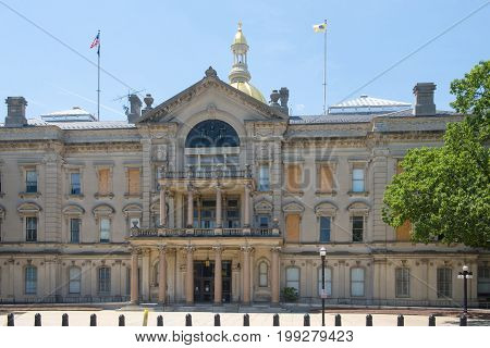 New Jersey State House, Trenton, New Jersey, USA. New Jersey State House is American Renaissance style built in 1792. It is the third-oldest state house in continuous legislative use in United States.