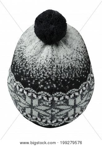 Hat Isolated On White Background .knitted Hat