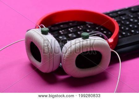 Music And Digital Equipment Concept. Sound Recording And Technology