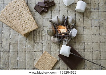 Camp Fire S'mores Deconstructed