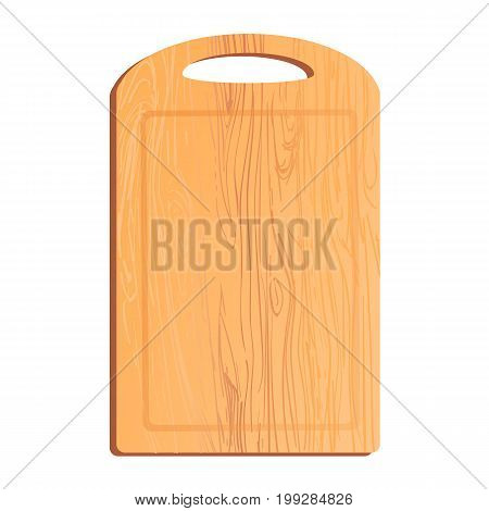 Vector colorful illustration or icon of chopping board