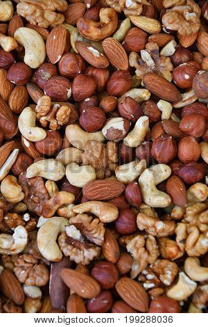 A Mixture Of Dried Nuts