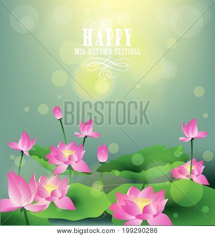happy mid autumn festival chinese background holiday