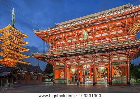 Tokyo senso ji buddhist temple Asakusa Tokyo