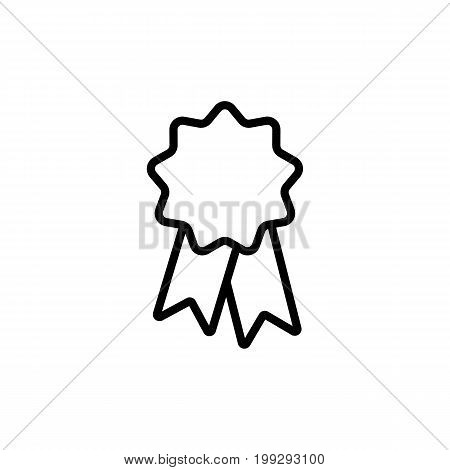 Line Ribbon Sticker, Badge Icon On White Background