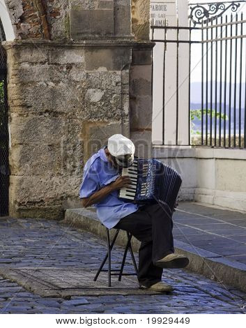 Male Accordion Street Performer