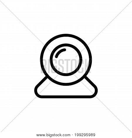 Line Web Camera, Web Cam Icon On White Background