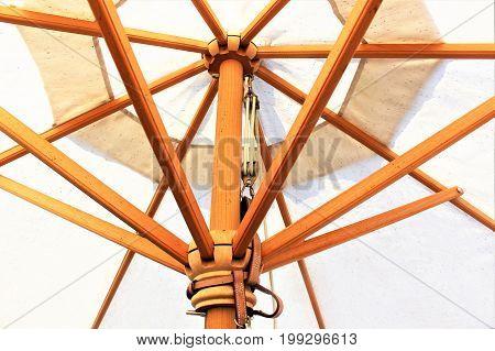 An image of a beach umbrella, summer