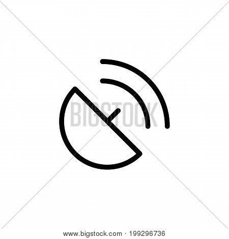 Line Antenna, Satellite Dish, Broadcast Icon On White Background