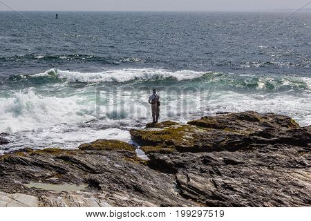 Fishing in the Atlantic ocean in Jamestown