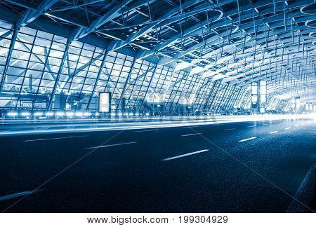 Expressway to Shanghai Pudong International Airport,China.