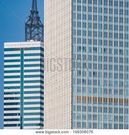 modern office buildings against sky,tianjin,china.