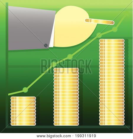 marketing business graphs trading growth vector illustration