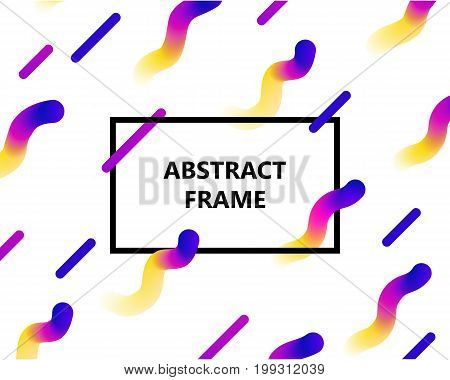 Abstract frame gradient copy. Rectangular frame on a white background with a bright gradient for designers and illustrators. Abstract frame gradient vector illustration