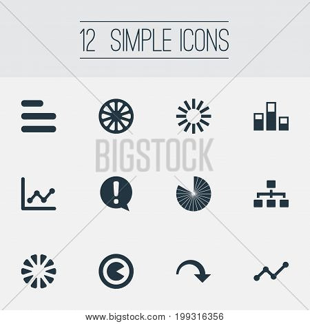 Elements Decline, Hierarchy, Menu And Other Synonyms Strategy, Text And Template.  Vector Illustration Set Of Simple Graph Icons.