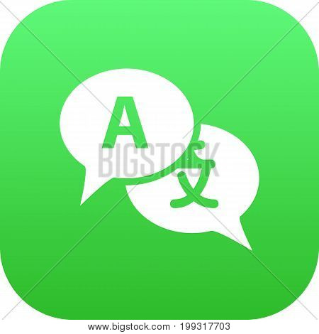 Vector Translate  Element In Trendy Style.  Isolated Interpreter Icon Symbol On Clean Background. poster