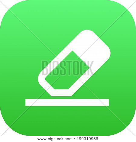 Vector Rubber Element In Trendy Style.  Isolated Eraser Icon Symbol On Clean Background.