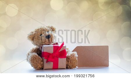 Cute Teddy Bear With Price Tag And Beautiful Gift