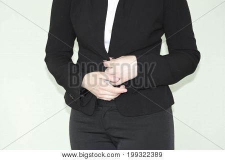 Business Concept. Modesty And Indecision