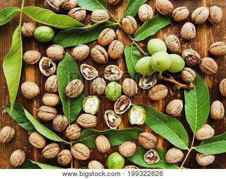 Walnuts On Wood