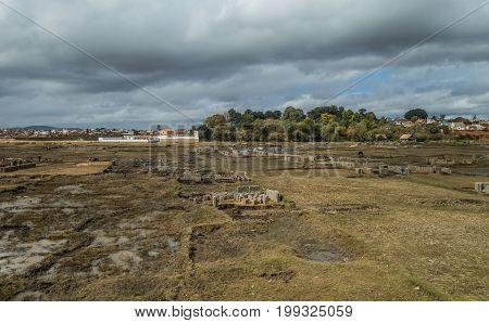 Clay bricks factory in Antananarivo suburbs Madagascar