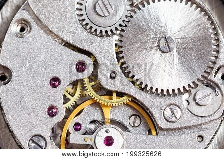 Detail Of Mechanical Wristwatch Close Up