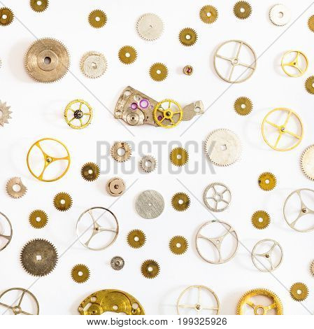 Pattern From Various Old Watch Spare Parts