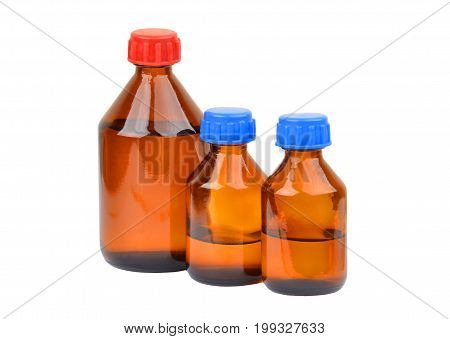 Retro medical bottle isolated on white background