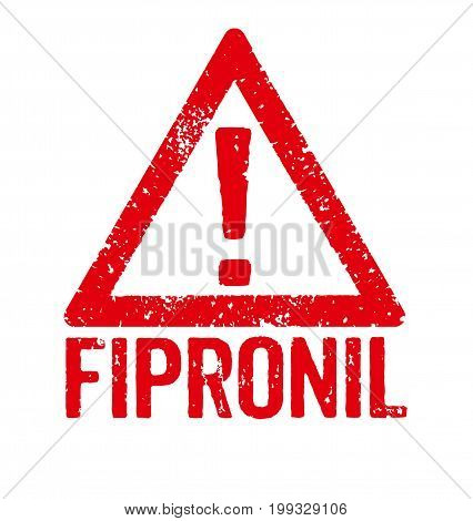 A red stamp on a white background - Fipronil
