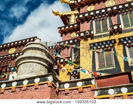 Tibetan Monastery In Shangri La Ganden Songtsenling near Zhongdian in China