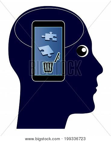Smartphone kills your Memory. The overuse of mobile phones with damaging side effects of your brain