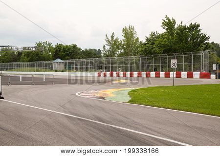 The Chicane Approaching Wall Of Champions On Circuit Gilles Villeneuve