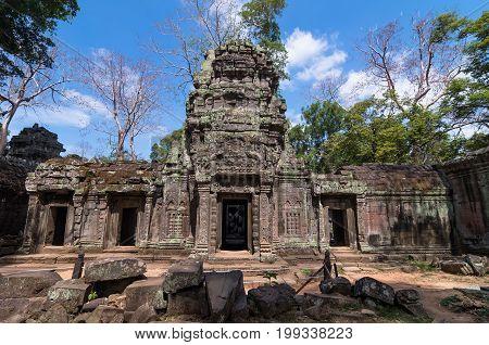 ancient Prasat Ta Phrom Angkor Wat Cambodia
