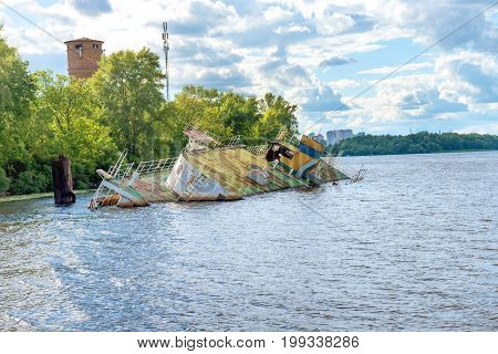 Wreck Of Abandoned Sink Ship